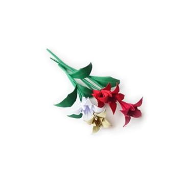 Mini lírio de origami