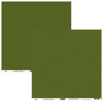 Papel Para Scrap - Poá Verde Militar