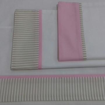 Conjunto de lençóis para berço
