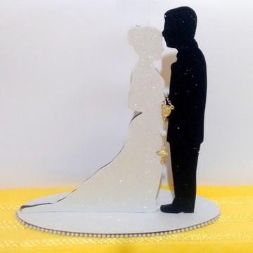 Topo de Bolo para Casamento em MDF