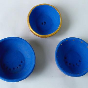 Kit mini cumbucas em cerâmica
