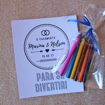 Kit de colorir - Azul Marinho
