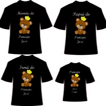 Camisetas personalizadas para Aniversario Urso Principe- NG