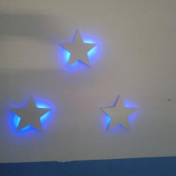 Estrelas Luminária LED MDF