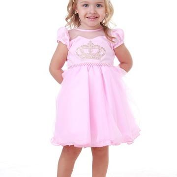 Vestido Infantil Meu Primeiro Reinado