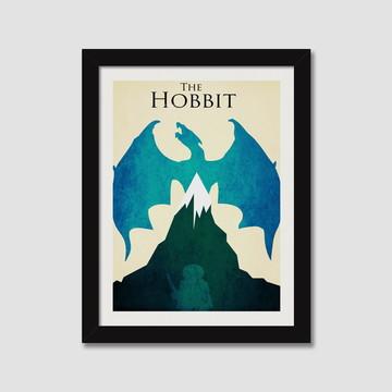 Quadro O Hobbit Minimalista Decorativo Filme Serie Cinema