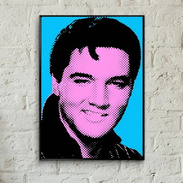 Quadro pop art Elvis Presley