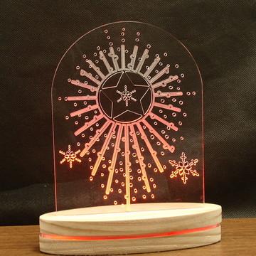 Luminária Abajur Estrela - Led