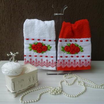 conjunto de toalha lavabo