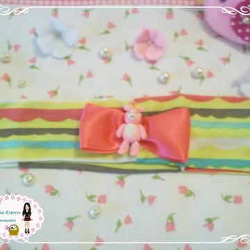 faixa de cabelo ursa rosa