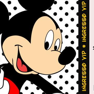 Convite Mickey personalizado