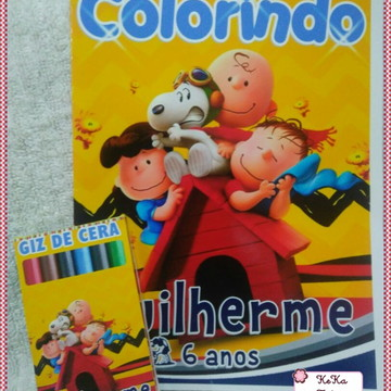 Revista Colorir Snoopy