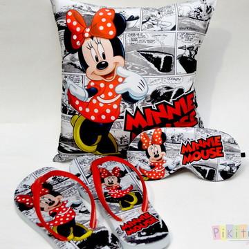 Kit Festa do Pijama Minnie vermelha