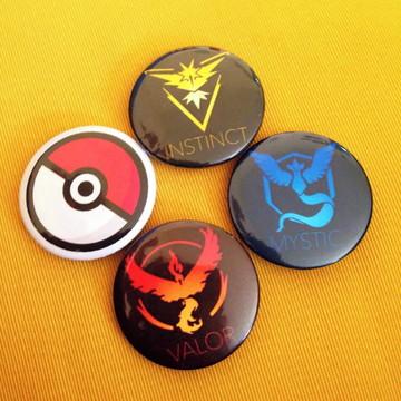 Kit 4 bottons Pokémon Go