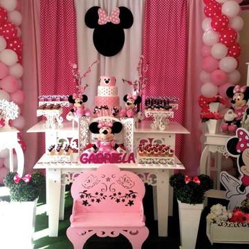 Festa Provençal Decoração Minnie Rosa