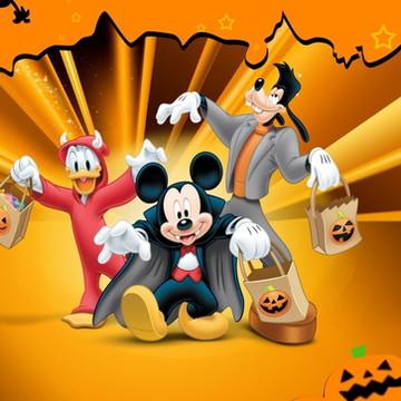 Adesivo Halloween Mickey e sua turma