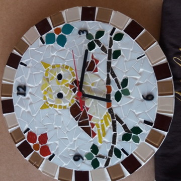 relogios mosaico