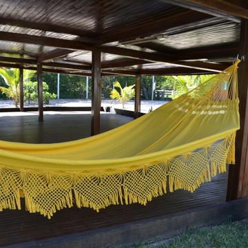 Rede de Dormir Casal Algodão Amarelo