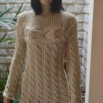 Blusa trico - trança vertical