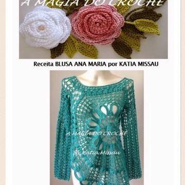 Receita blusa Ana Maria em PDF