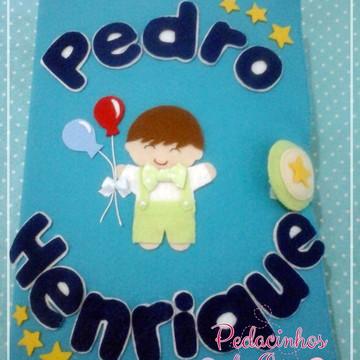 Quiet Book Personalizado Pedro Henrique