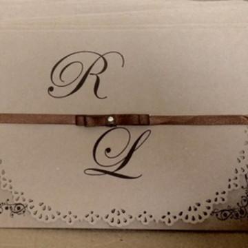 Convite Casamento rustico Ref.3