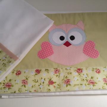 Jogo de lençol para berço bordado