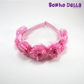 Tiara arco infantil com mini flores