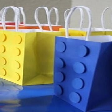 Sacolinha 3D Tema Lego