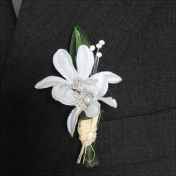 Flor p/ Lapela - Mini Lírio branco