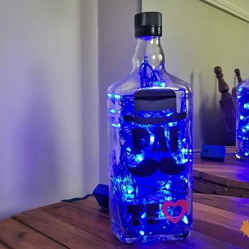 Luminária de garrafa - Pai Te Amo
