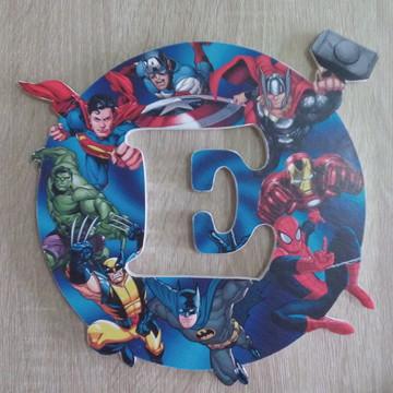 Enfeite de Porta Super Herois