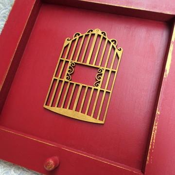 Porta chaves vermelho