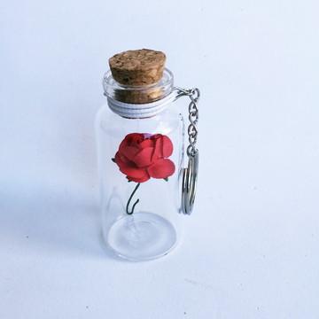 Chaveiro Flor pra Você - Vermelha