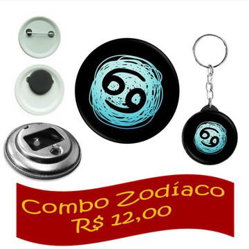 Combo 04 Peças - Zodíaco de Câncer
