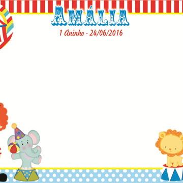 50adae4905320 Quadro Mágico Circo Menina + BRINDE