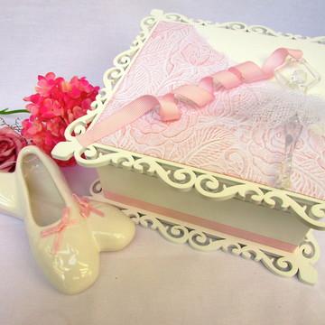 BALLERINA -porta-joia com pingente de sapatilha de porcelana