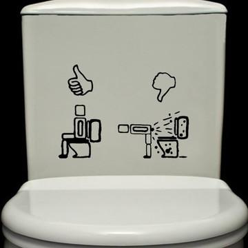 Adesivo Banheiro Vaso Sanitário Aviso