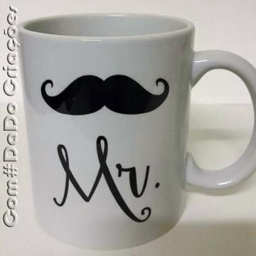 Caneca personalizada Mr. & Mrs.