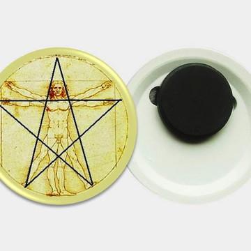 Imã 4,5cm - Vitruvius - Estrela 5 Pontas