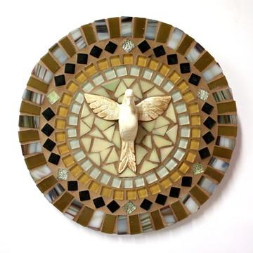 Mandala Divino Espírito Santo Ocre P