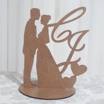 Enfeite bolo casal noivinhos rústico m7