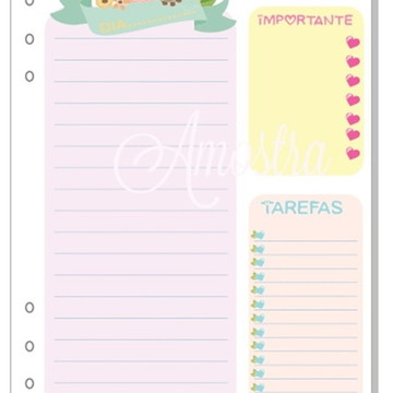 Insert Planner (A5)- Colors