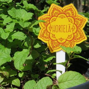 Placa para Horta e Jardim Mandala