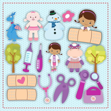 Kit Scrapbook Digital Doutora Brinquedo