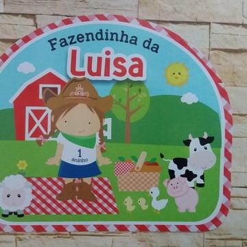 Placa em pvc Fazendinha