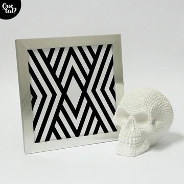 Quadro - Geométrico - branco e preto