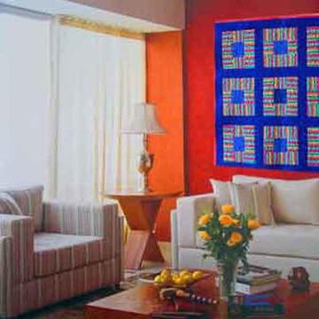 Painel artístico em patchwork quiltado