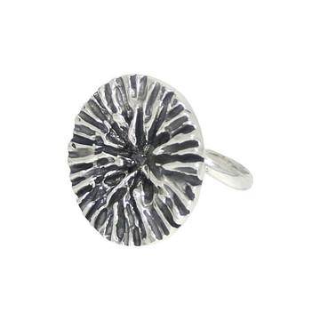 Anel de prata flor canelada