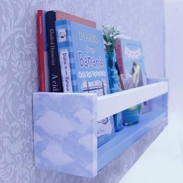Prateleira para livro infantil e objetos